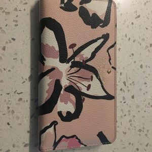 Authentic Kate Spade Large Floral Zip Wallet
